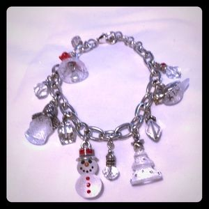 Brighton silver and etched glass holiday bracelet